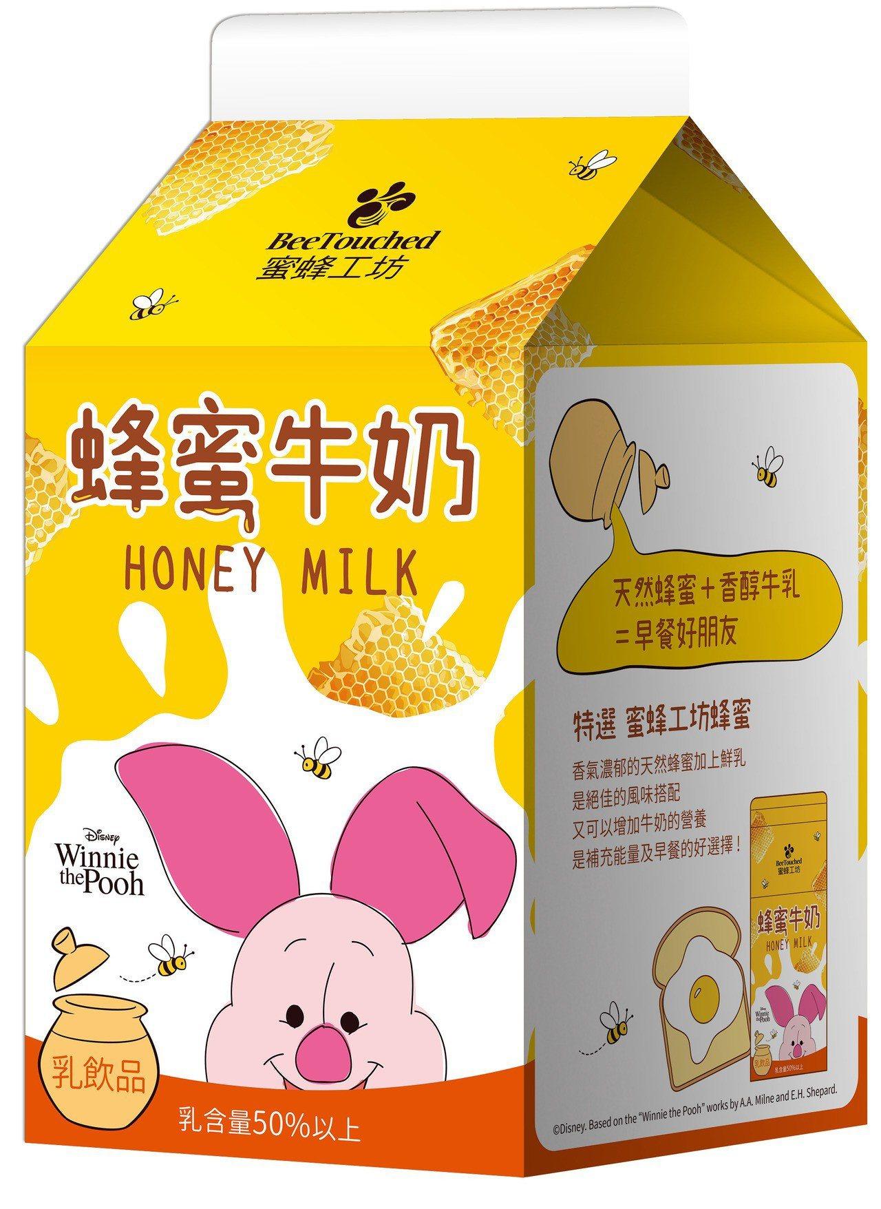 7-ELEVEN與蜜蜂工坊聯名的「蜜蜂工坊蜂蜜牛奶」小豬款,售價35元。圖/7-...