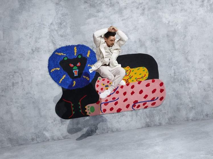 日本藝術家Misaki Kawai(河井美咲)的地毯設計活潑有趣,售價13,90...