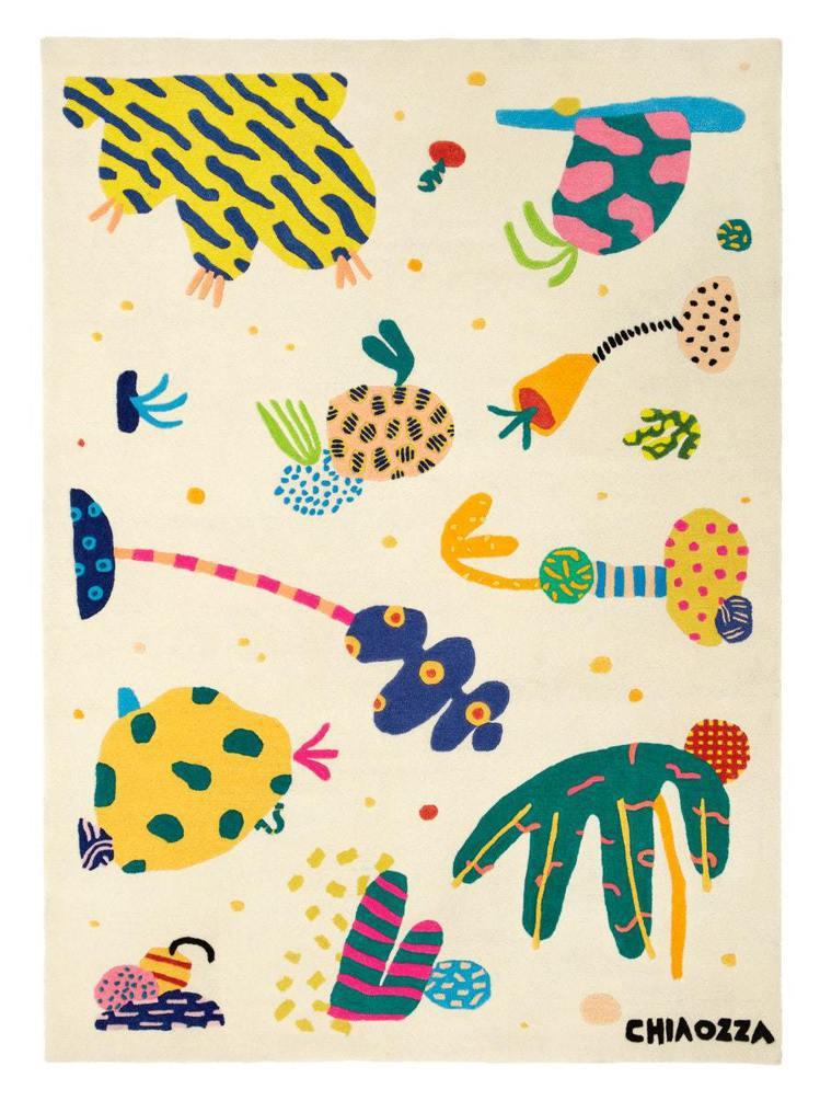 美國藝術家搭檔Adam Frezza和Terri Chiao的地毯設計運用拼貼創...