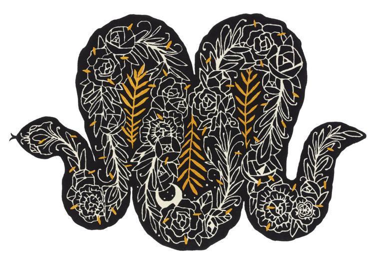 法國藝術家SupaKitch的地毯創作以蛇為設計主題,象徵著重生,售價16,90...