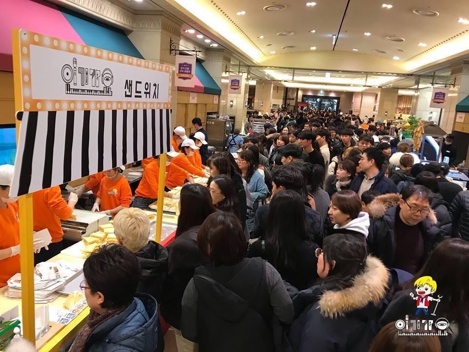 「人氣歌謠三明治」在韓國、台灣都吸引不少粉絲搶購。圖/摘自人氣歌謠三明治臉書