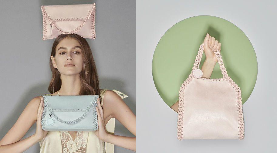 標誌性的包款Falabella,也以輕盈的壓克力背帶搭配糖果色彩擄獲少女心。圖/...