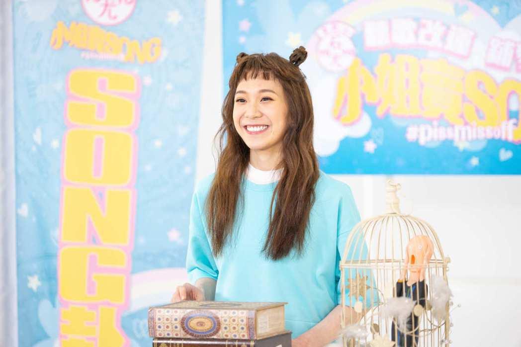 YOYO石尤日前拍攝新歌MV。圖/李欣芸音樂提供