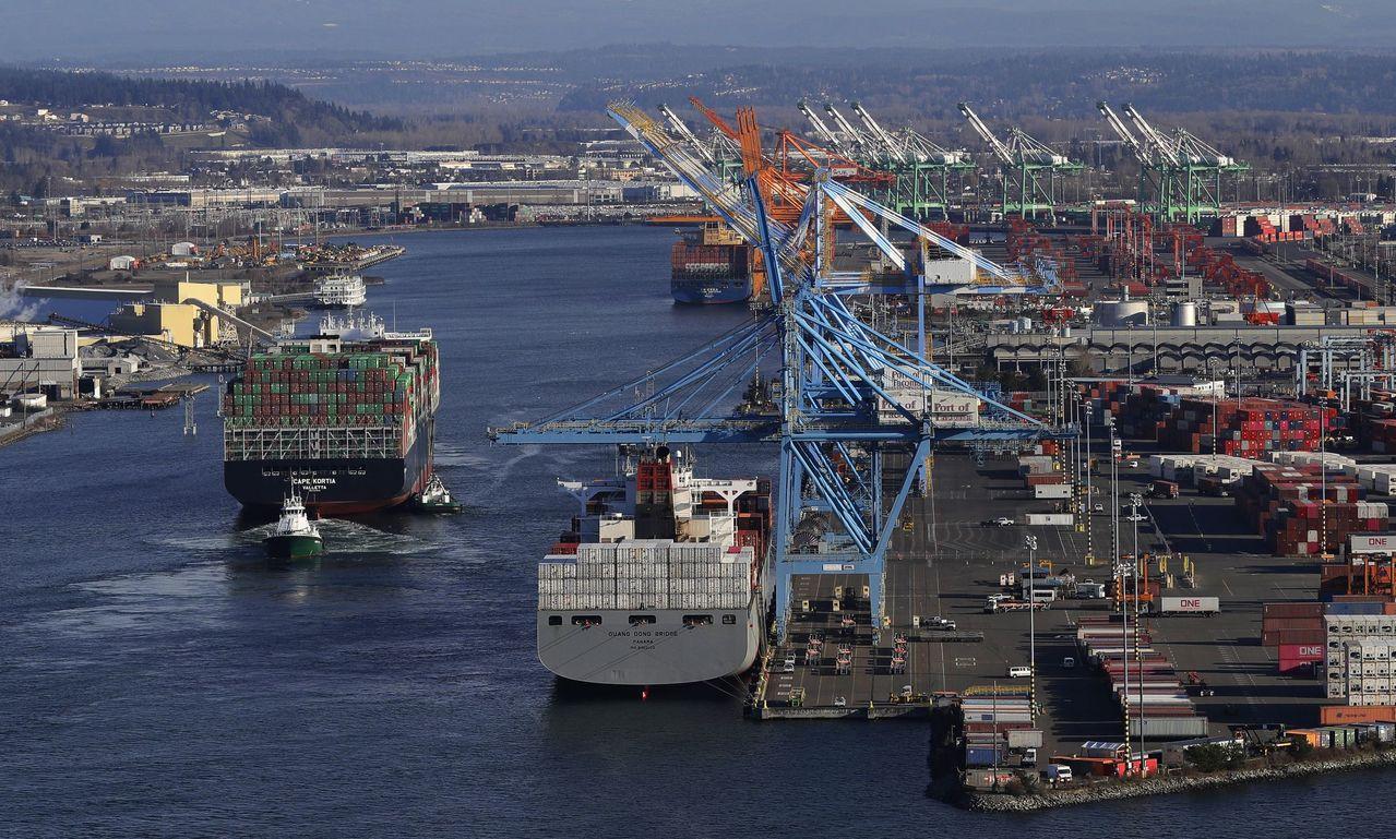 貿易戰對美中兩大經濟體和全球其他地區的出口都產生明顯衝擊。 (美聯社)