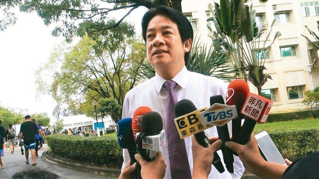 行政院前院長賴清德被爆「公器私用」,他表示,台南市政府台北辦公室並非他的競選辦公...