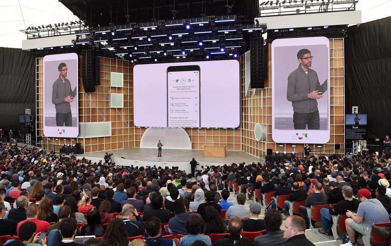Google I/O大會。 法新社