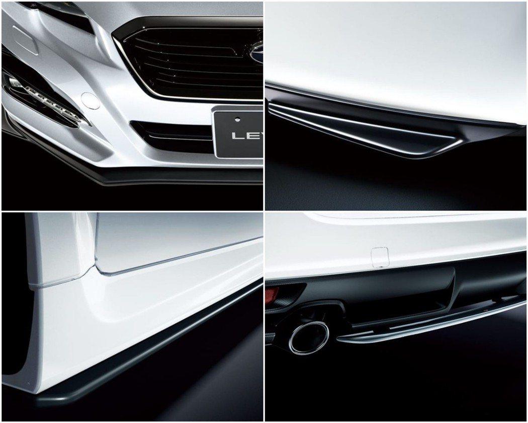 Levorg STI Sport買家可額外選配STI空力套件。 摘自Subaru...