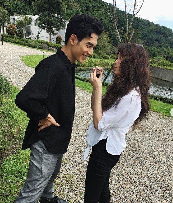 歐陽妮妮與張書豪在IG上常放閃  圖/摘自IG