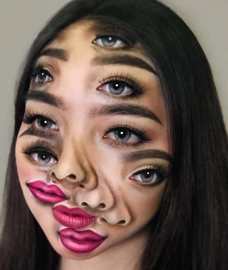 多眼妝容在Mimi Choi的IG上可以看出也是屬於較為頻繁嘗試的作品。圖/摘自...