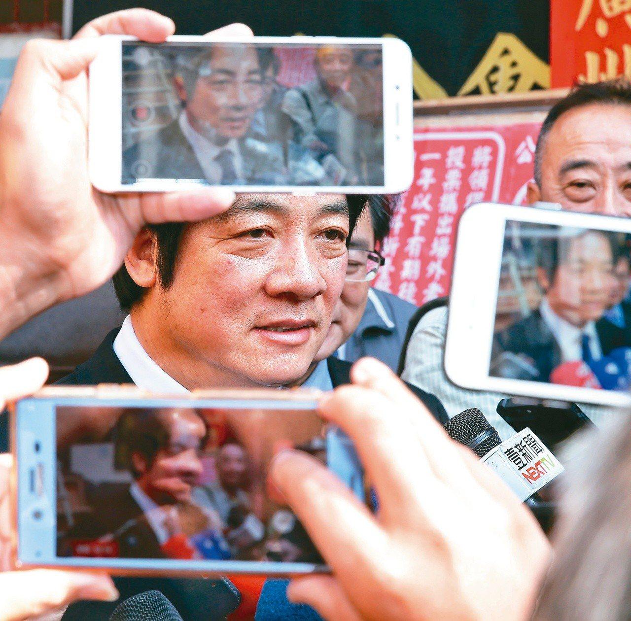 鏡週刊今天報導,5月3日近中午時分在台南市政府台北辦公室,行政院前院長賴清德的人...