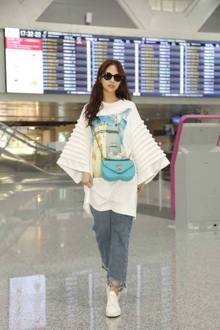 楊丞琳前往紐約參加路易威登2020早春女裝秀。圖/LV提供