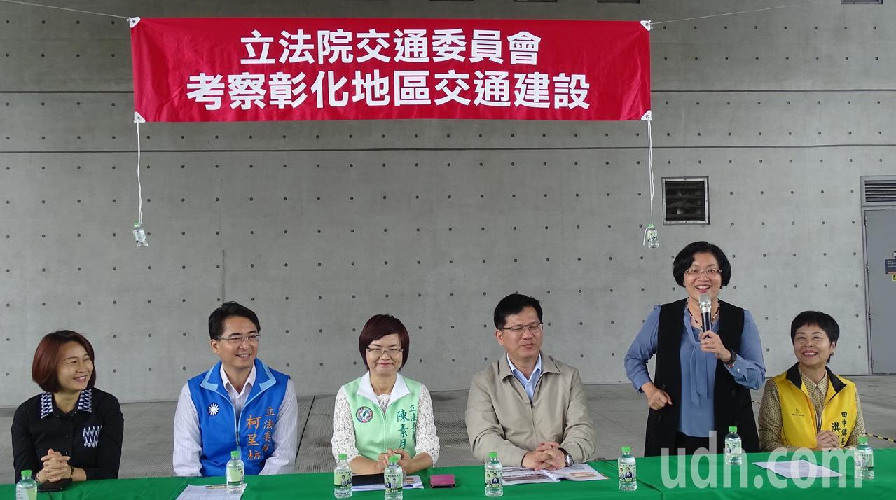 縣長王惠美(右2)說林佳龍當過台中市長,應是最接地氣的交通部長,會全力支持彰化縣...