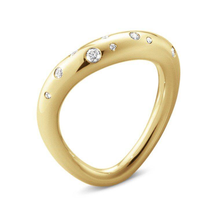喬治傑生OFFSPRING 18K黃金鑽石戒指,47,500元。圖/喬治傑生提供