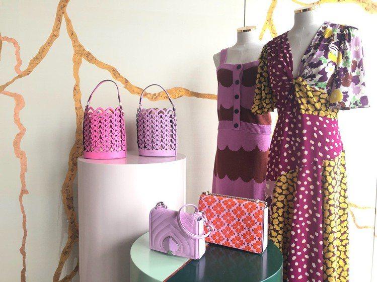 Kate Spade發表的全新夏日系列服裝用色相當花俏。記者楊詩涵/攝影