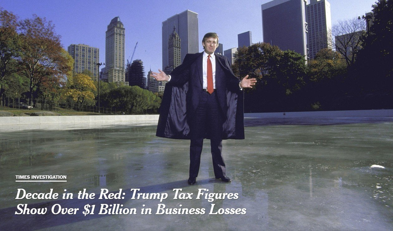 美國《紐約時報》7日報導,稱取得美國總統川普1985年至1994年的國稅局正式稅...