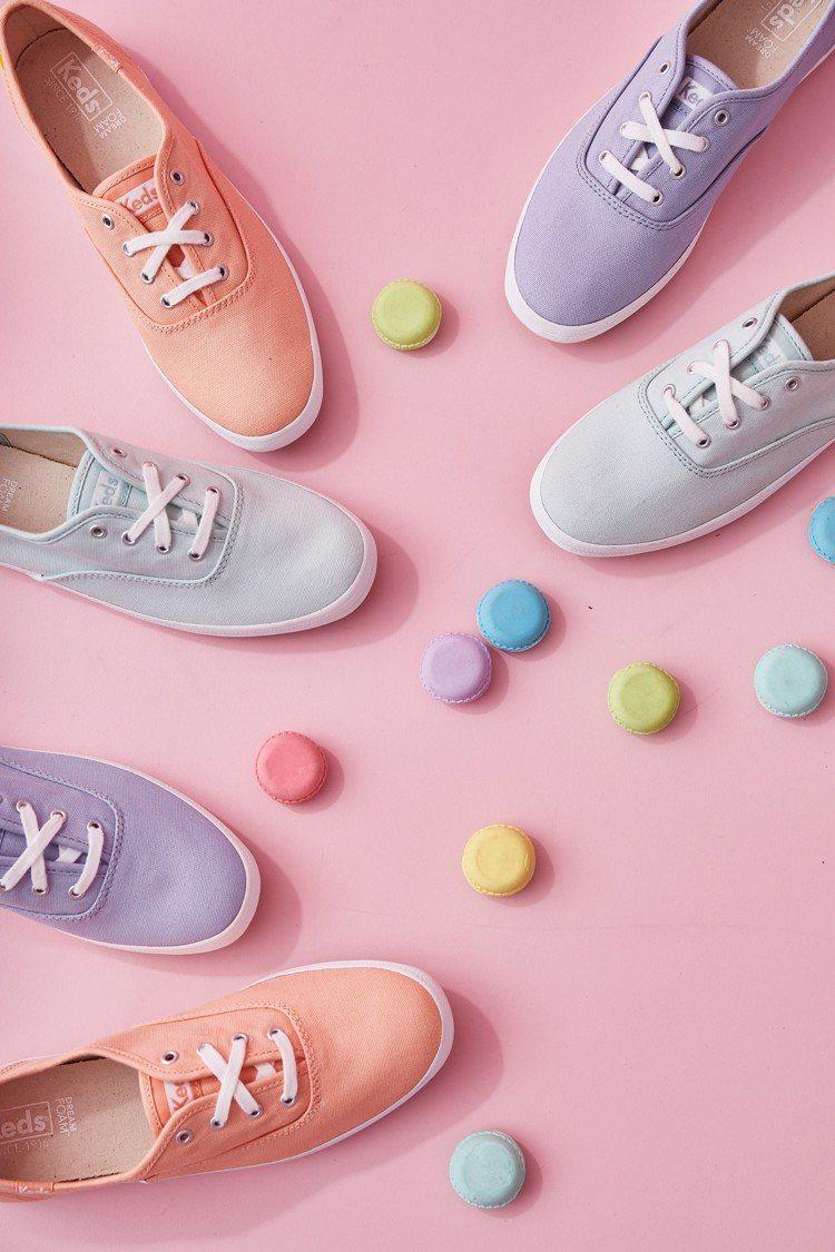 Keds在春夏推出多款Pantone年度色的新鞋。圖/Keds提供