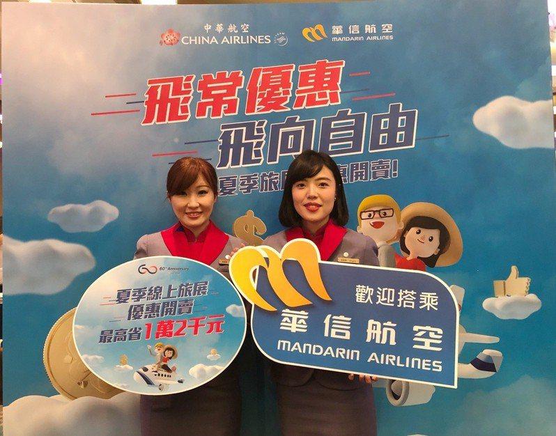 華航推出夏季優惠活動,台北飛夏威夷來回含稅18,175元。圖/華航提供