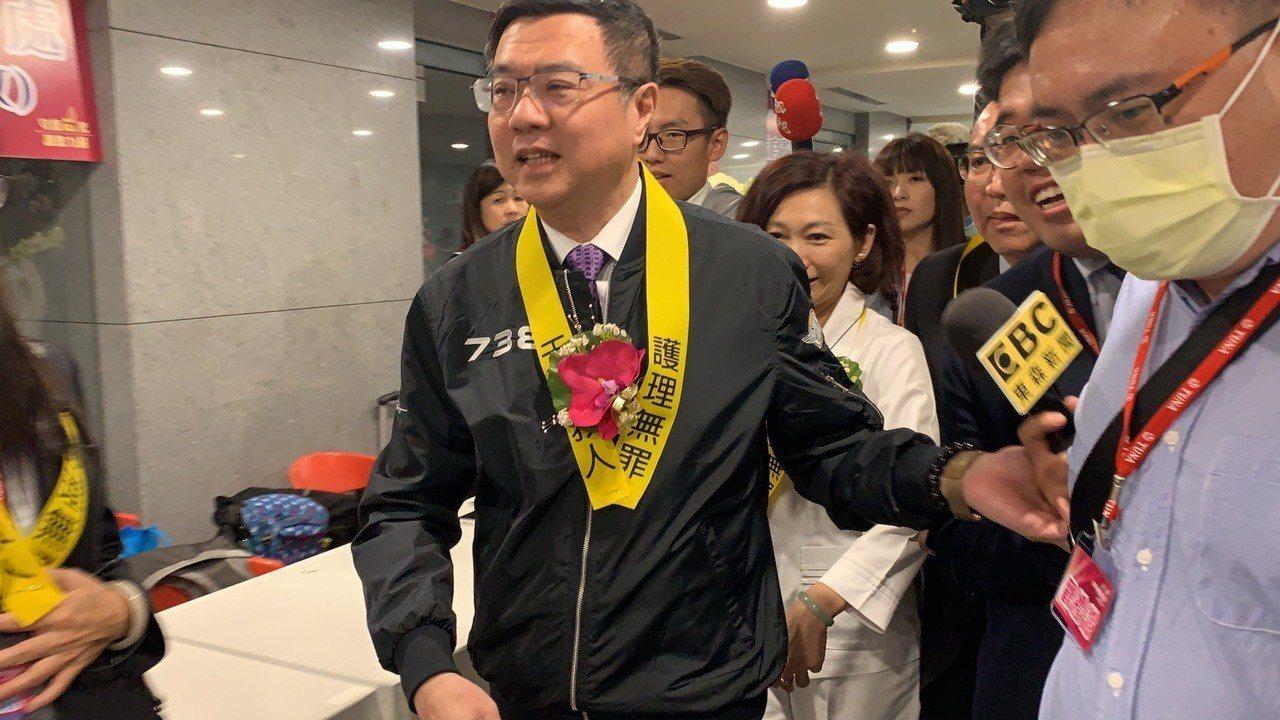 民進黨主席卓榮泰今下午出席國際護師節聯合慶祝大會。記者魏翊庭/攝影