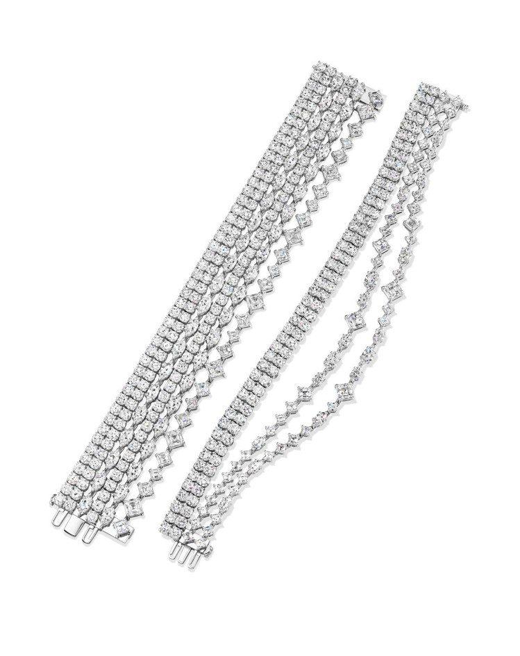 珍妮佛羅培茲配戴海瑞溫斯頓Secret Combination鑽石手鍊。圖/Ha...