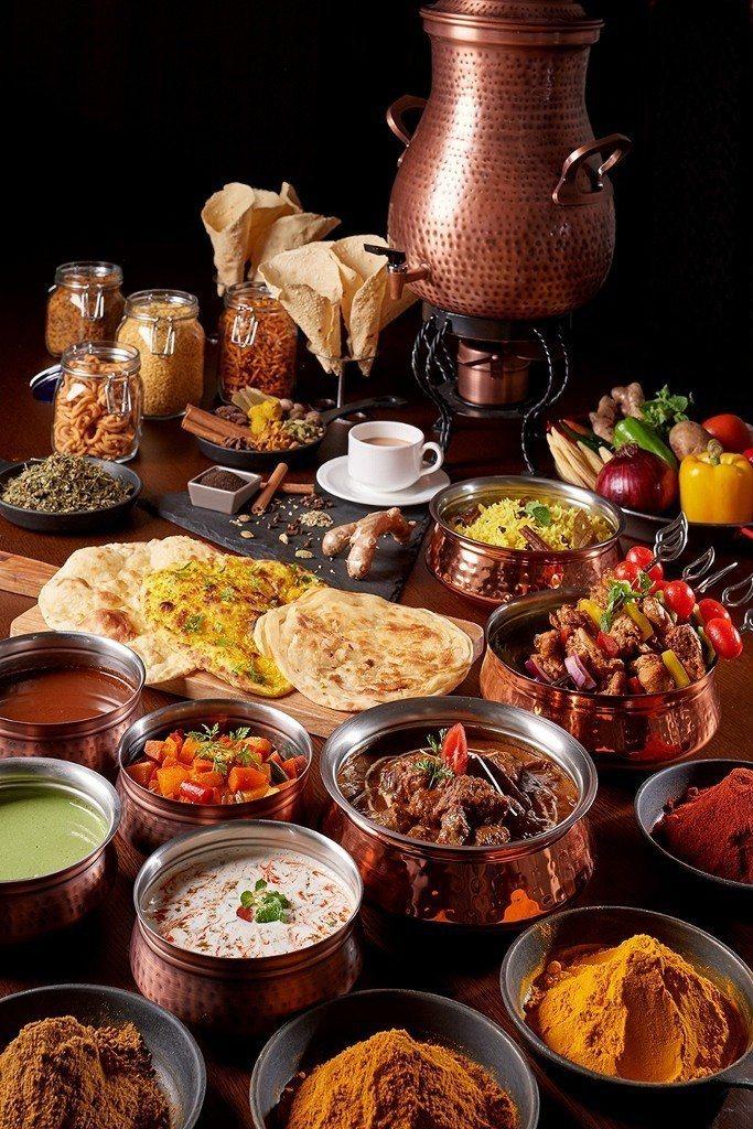 台北美福大飯店彩匯自助餐廳主打印度美饌。圖/台北美福提供