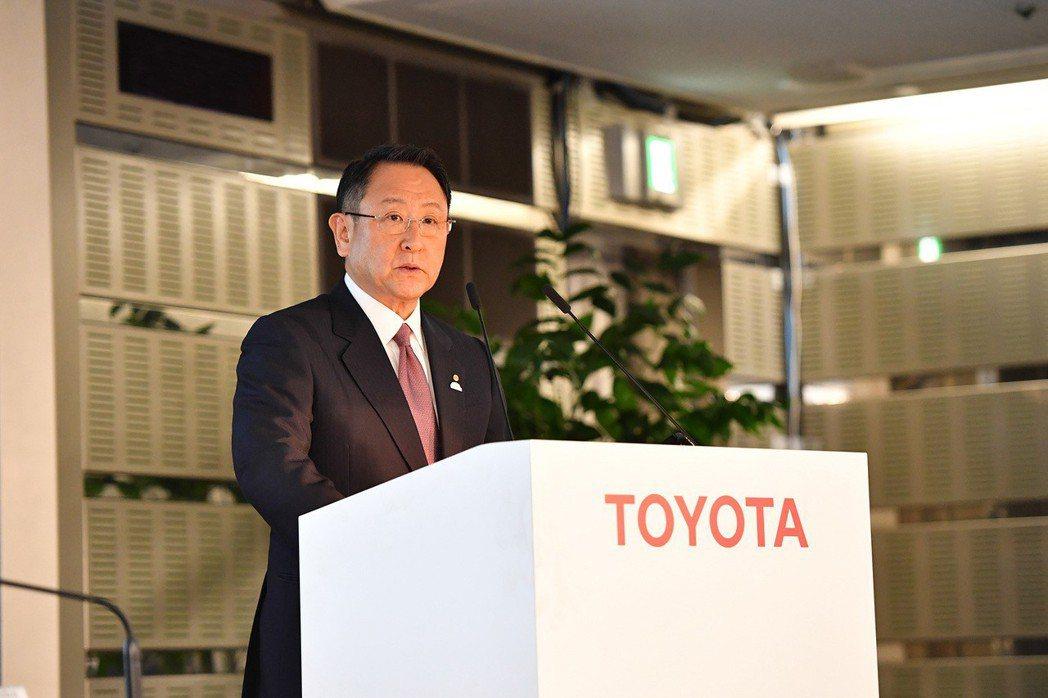 Toyota社長豐田章男大力抨擊「禁售燃油車」政策。 摘自Toyota