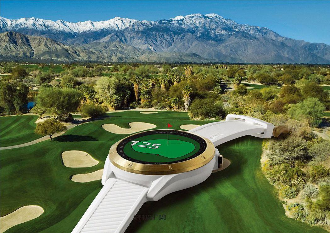 Garmin Approach S40高爾夫GPS腕錶擁有 直覺操作設計,擊球資...