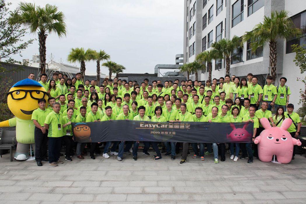 「EasyCar優質車專賣店」日前舉辦品牌年度大會,近兩百人在匯豐汽車總經理蔡奇...