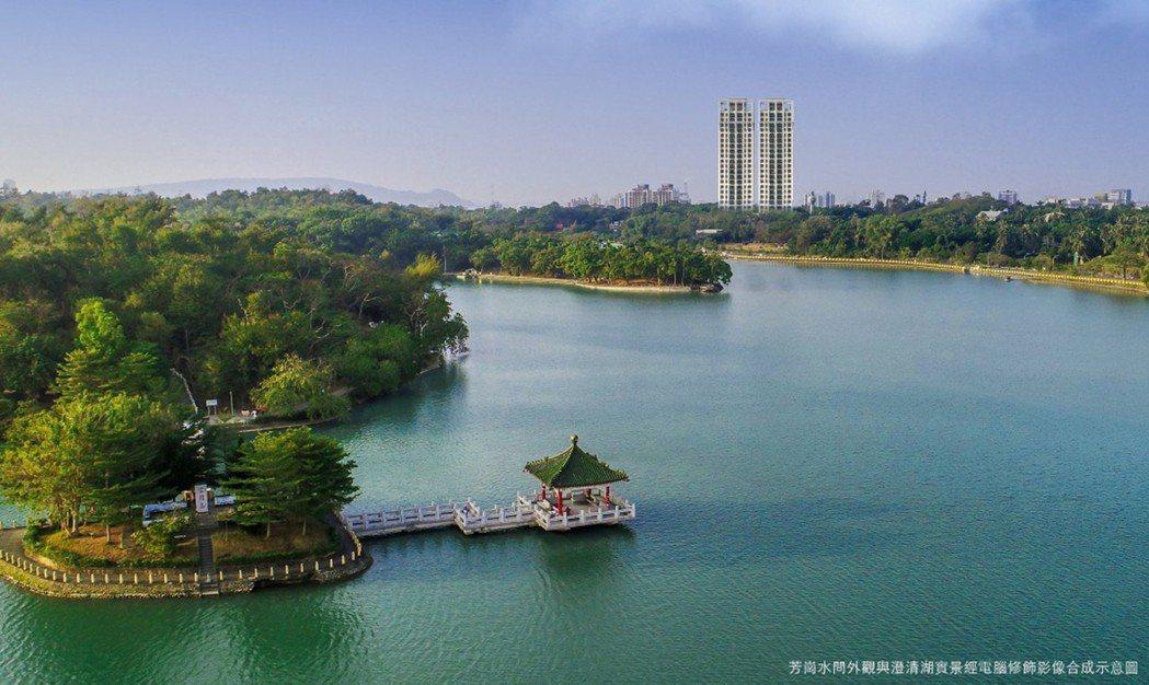 澄清湖第一排湖景席,375公頃原生湖境。圖片提供/芳崗澄品