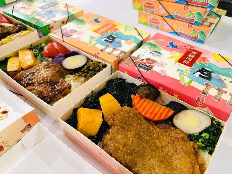 台灣高鐵公司推出新版便當盒蓋。記者曹悅華/攝影