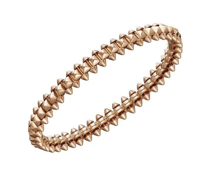 卡地亞Clash de Cartier系列玫瑰金手環 ,20萬3,000元起。圖...