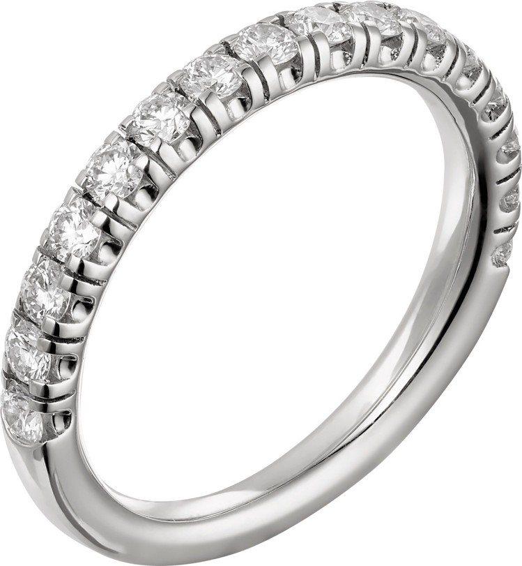 卡地亞Etincelle de Cartier鑽石戒指,白K金鋪鑲圓形明亮式切割...