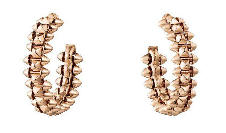 卡地亞Clash de Cartier系列玫瑰金耳環 ,11萬9,000元起。圖...