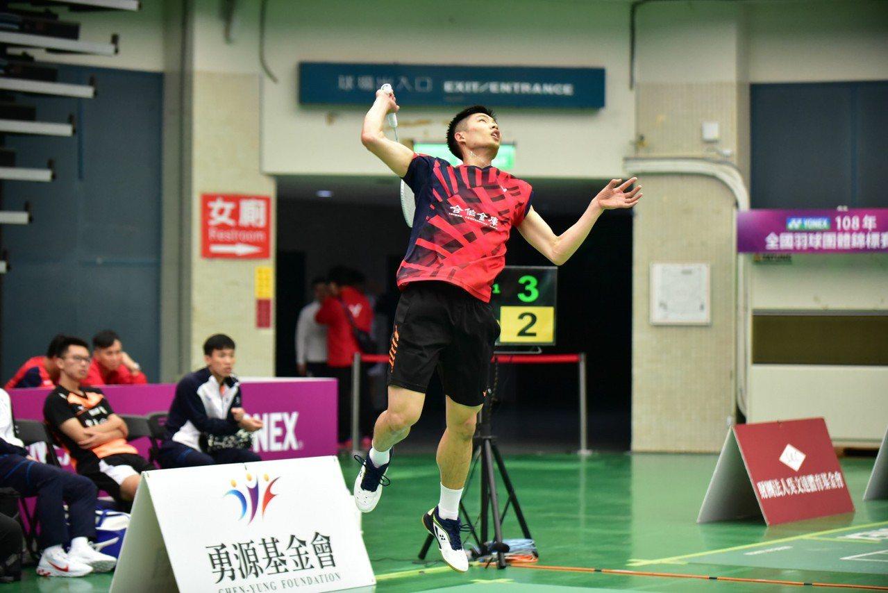 周天成率合庫A闖進4強。圖/中華羽球協會提供