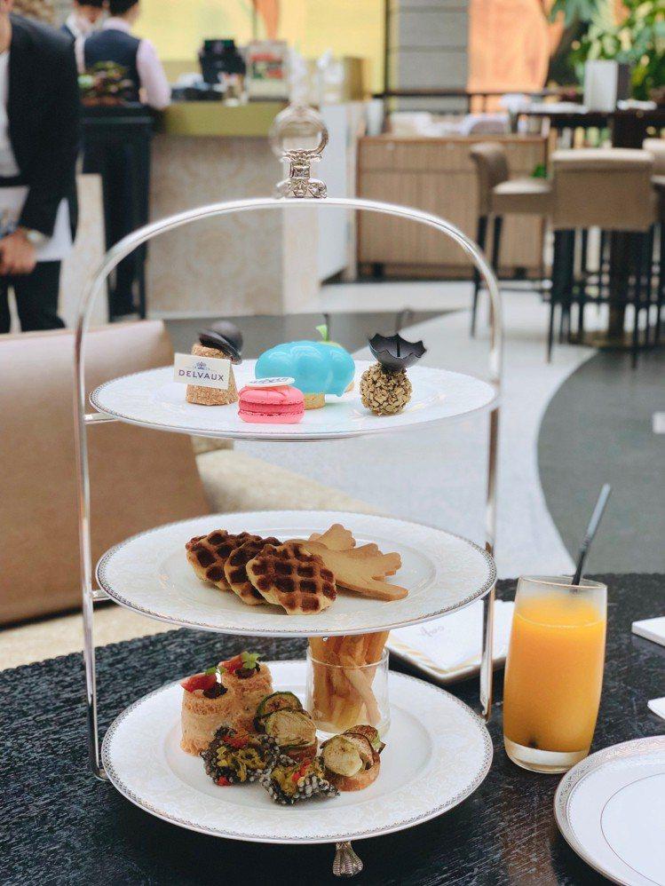 聯名限定雙人下午茶組,售價1680+10%。記者張芳瑜/攝影