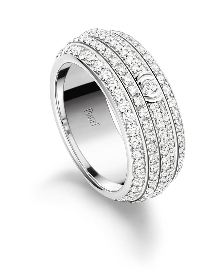 Possession 系列指環,18K白金鑲嵌234顆圓形鑽石共約2.17克拉,...