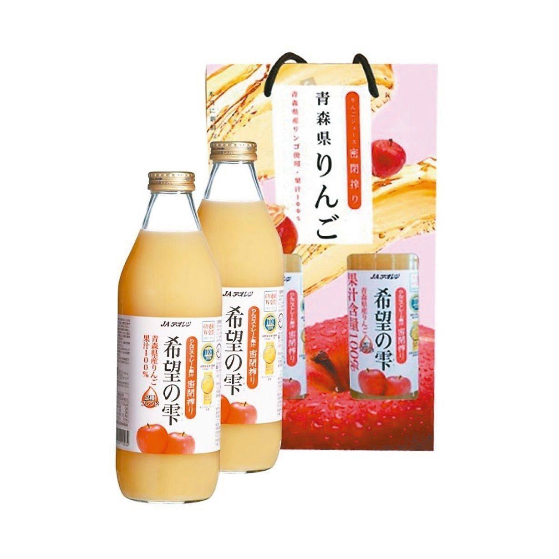 日本100%青森蘋果汁(1000ml),原價179元、特價169元。 圖/愛買提...