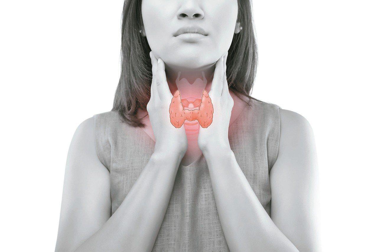 甲狀腺分泌甲狀腺素,甲狀腺結節極為常見。 圖/123RF