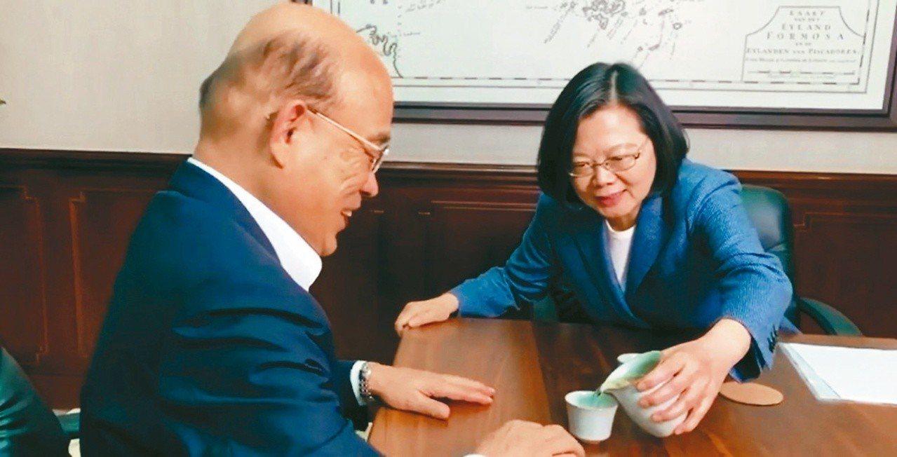蔡英文總統日前在臉書表示,不能讓「中國茶」經過「自經區」加工後,偽裝成「台灣茶」...