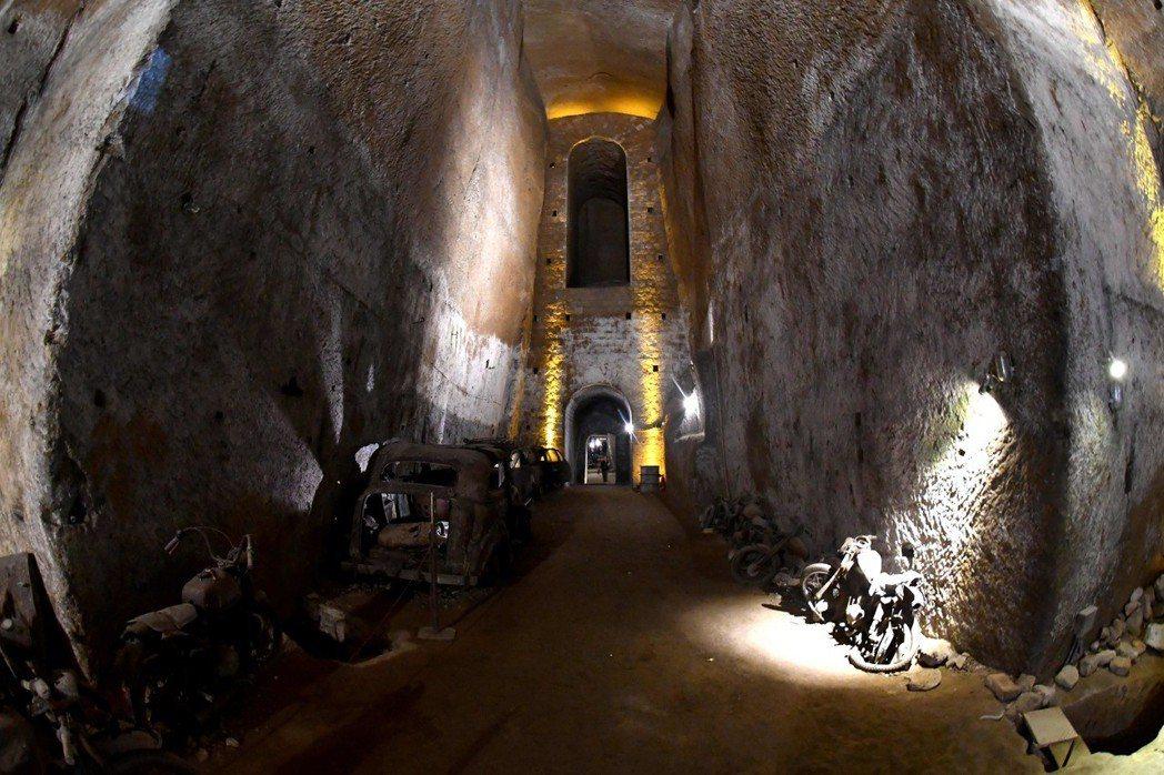 斐迪南二世逃難用的波旁隧道。 (法新社)