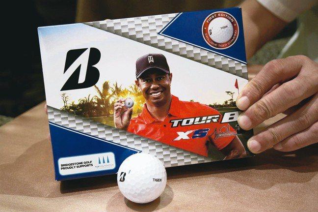 Bridgestone高爾夫球因老虎Tiger Woods拿下「高球名人賽」冠軍...