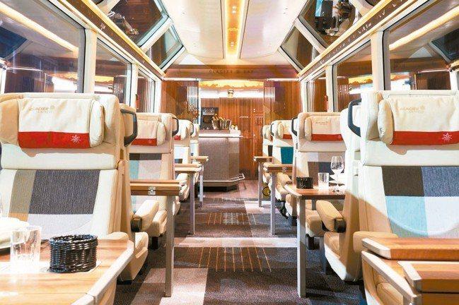 冰河列車全新推出的尊爵艙,極致尊榮豪華。 圖/泰永旅行社、陳志光