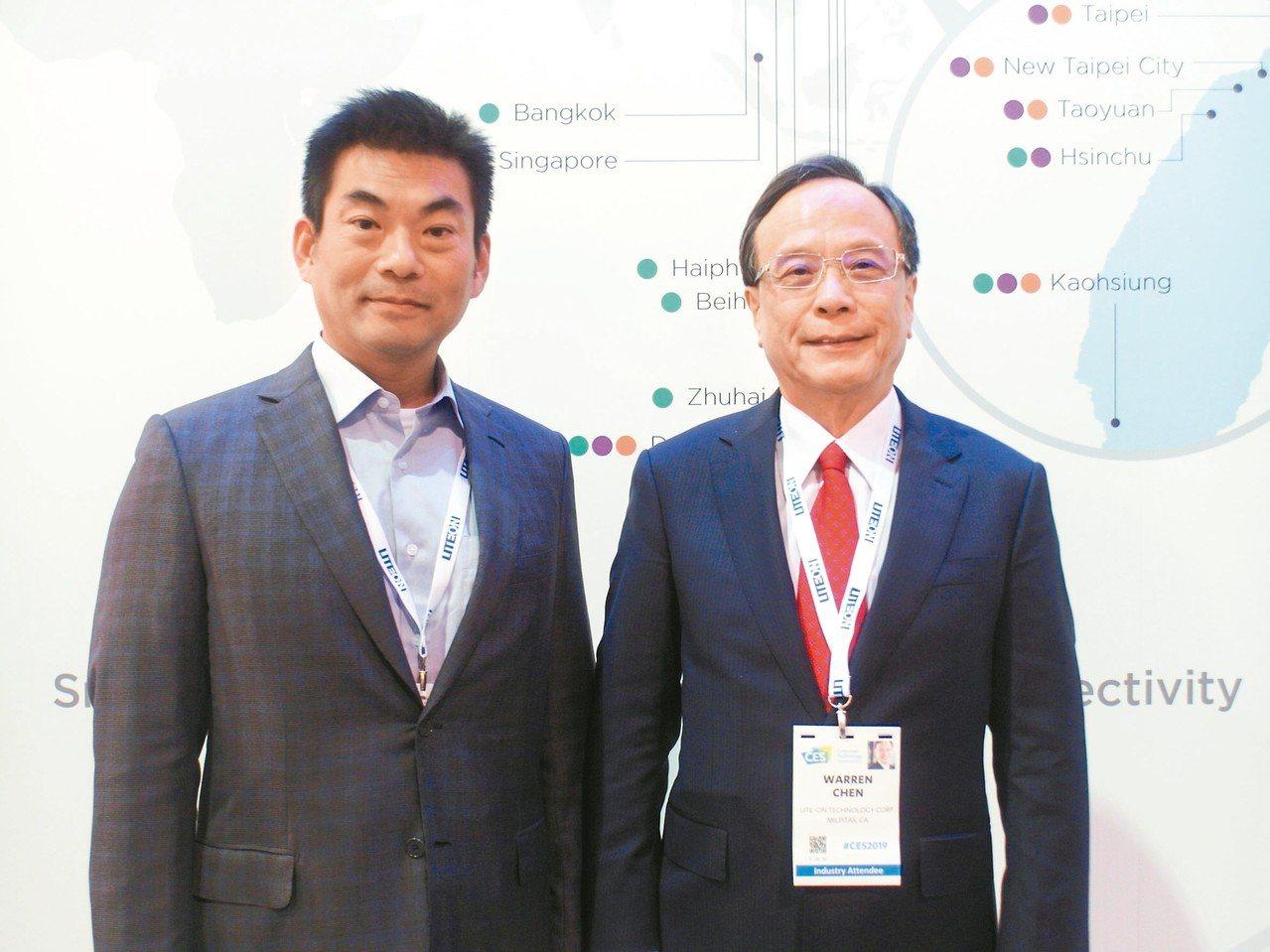光寶智能生活與應用事業群執行長宋明峰(左)與總執行長陳廣中。 本報系資料庫