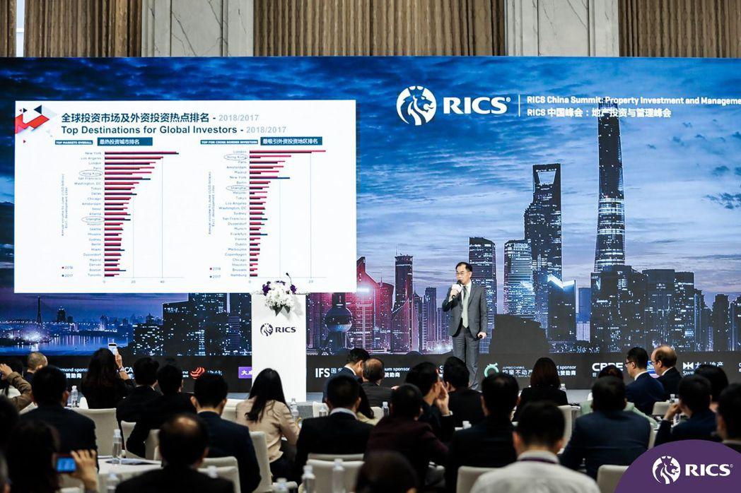 李志榮在活動上針對外資加大對中國房地產的趨勢及展望發表精彩演講  戴德梁行/提供
