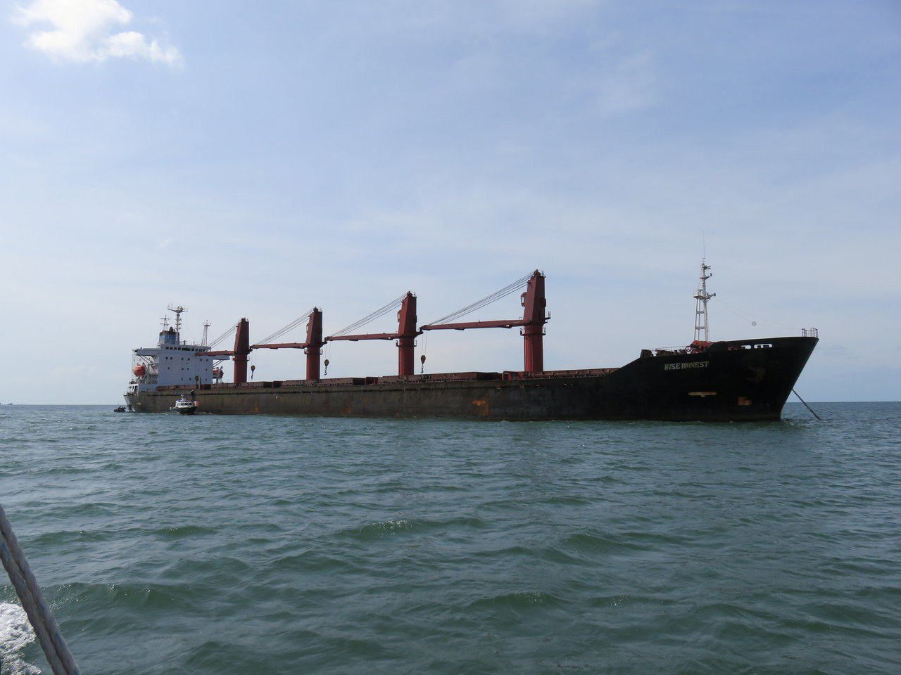 美國以違反國際制裁為由,9日扣押北韓貨輪「誠實號」。 路透