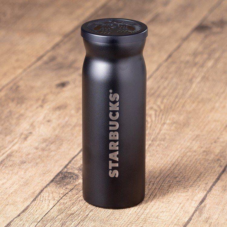 圖/12oz 酷黑Contour不鏽鋼隨行杯。擷取自星巴克官
