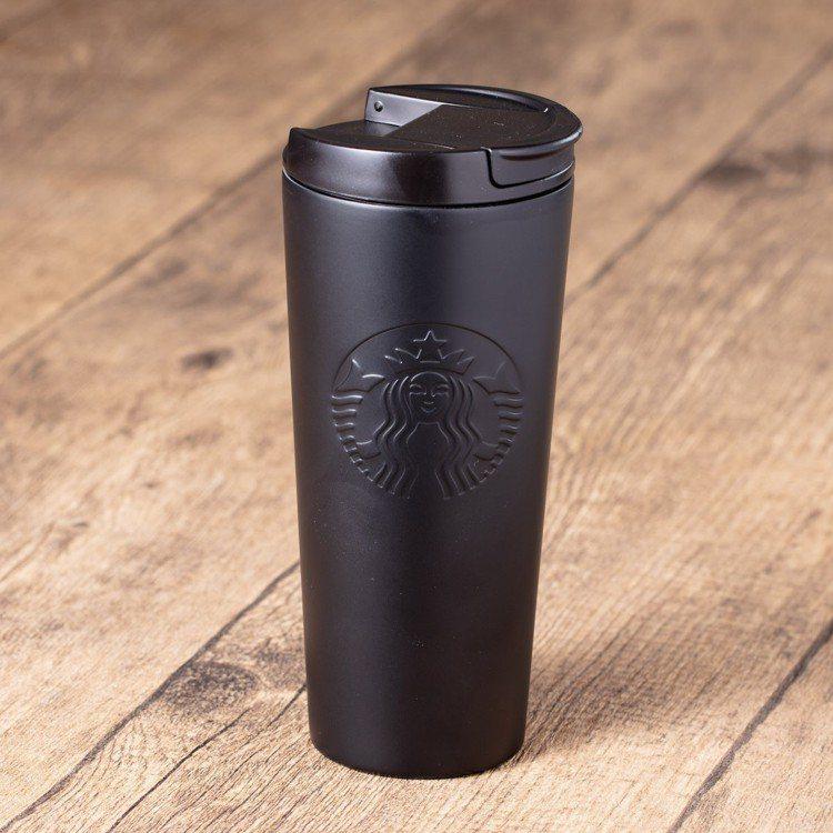 圖/16oz 酷黑經典不鏽鋼隨行杯。擷取自星巴克官