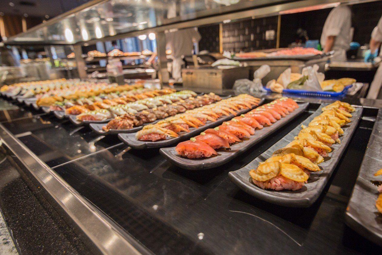 包括握壽司等料理,均是無限量供應。圖/漢來海港提供