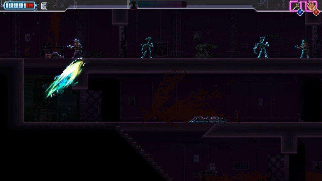 發動類似子彈時間的特技時畫面會變黑,敵我雙方動作皆會變慢,玩家可以看準時機通過障...