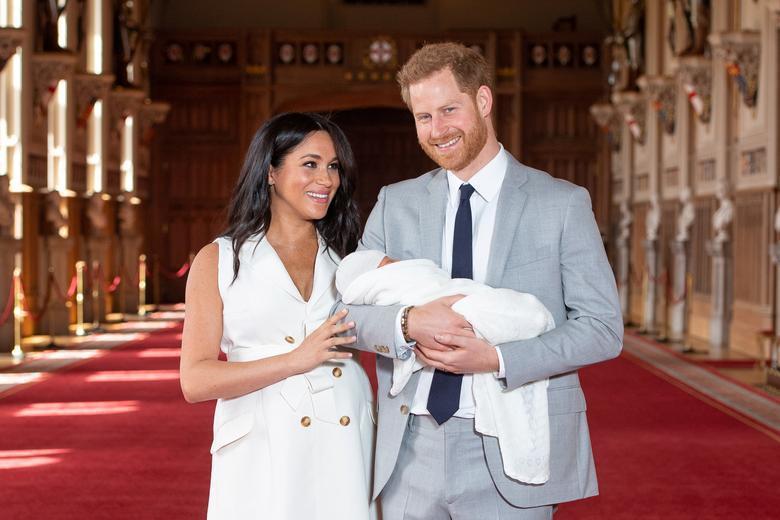 梅根與哈利王子剛出生的兒子亞契,是目前全球關注焦點。圖/路透資料照片