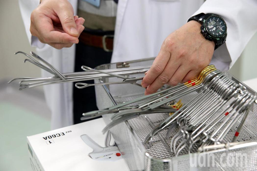 可重覆使用的手術器械。本報資料照片